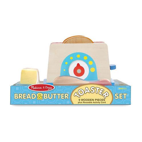 Melissa & Doug Wooden Toaster Set
