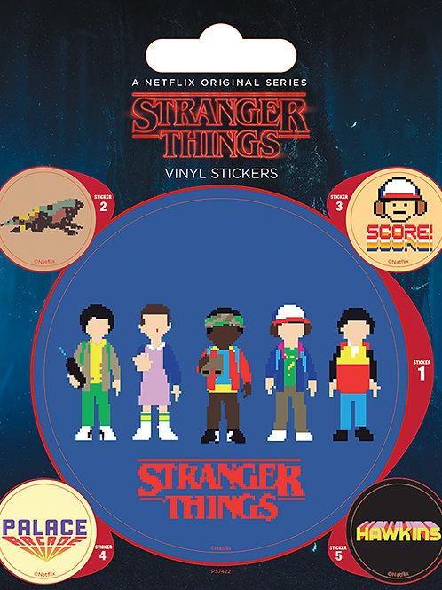 Stranger Things Arcade Vinyl Sticker Pack