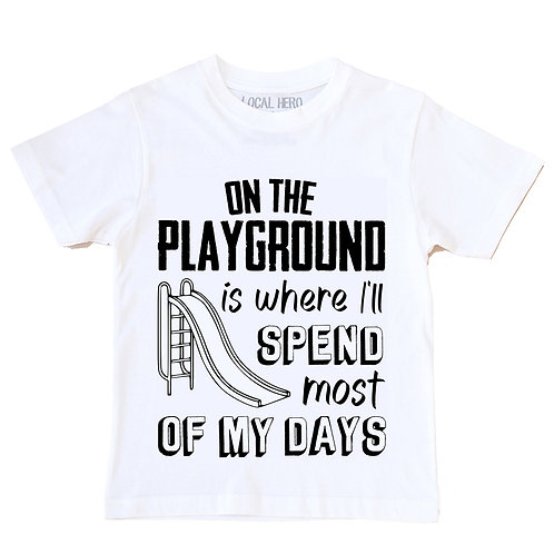 Local Hero On The Playground Kids Tee