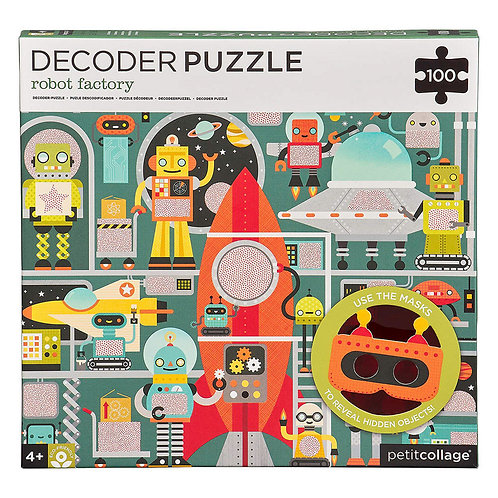 Petit Collage Robot Factory Decoder Puzzle