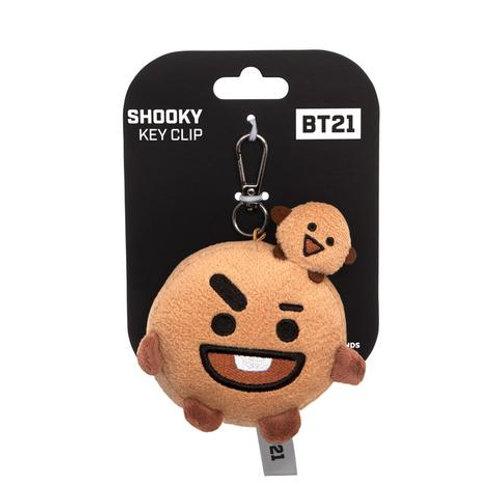 BT21, SHOOKY Plush Key Clip, 4In