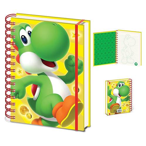 Super Mario Yoshi A5 Notebook