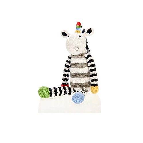 Black & White Unicorn Toy by Pebble Child