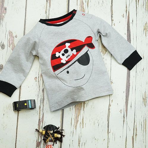 Pirate Blade and Rose Baby Top