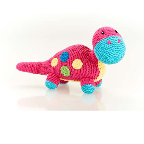 Dippi Dinosaur Rattle Toy by Pebble Child