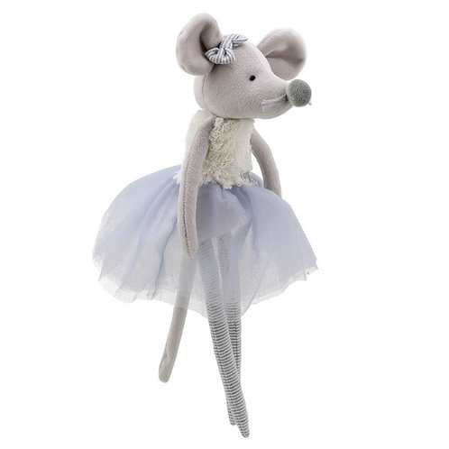Wilberry Dancer Soft Toy Grey Mouse