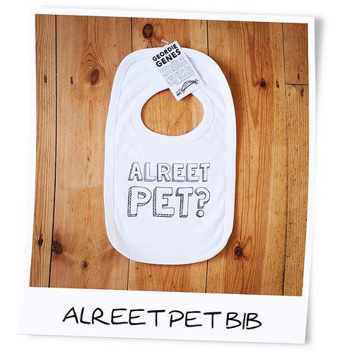 Alreet Pet Geordie Baby Bib