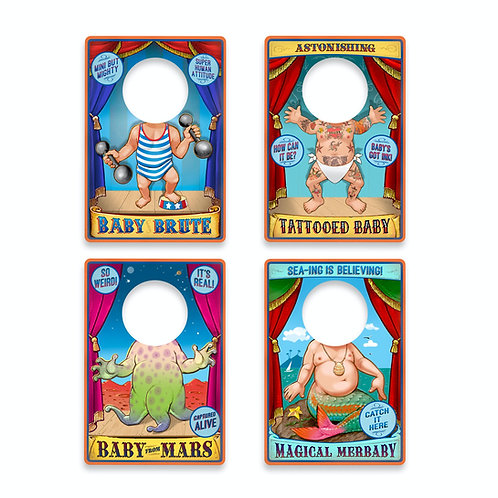 Fred Travelling Sideshow Wipe-Clean Travel Bibs