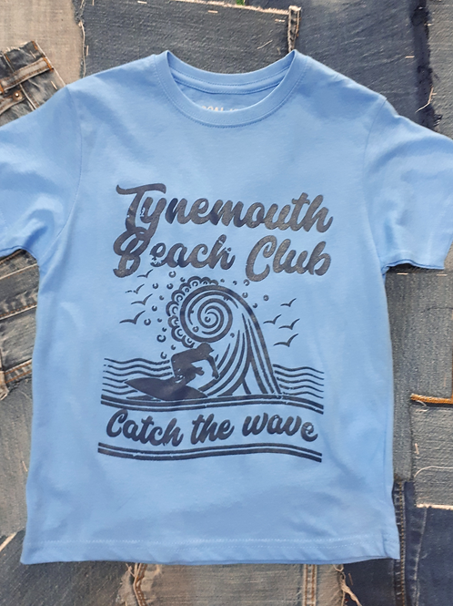Local Hero  Tynemouth Beach Club Catch The Wave Kids Tee