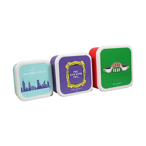 Friends Set of Three Lunch Boxes