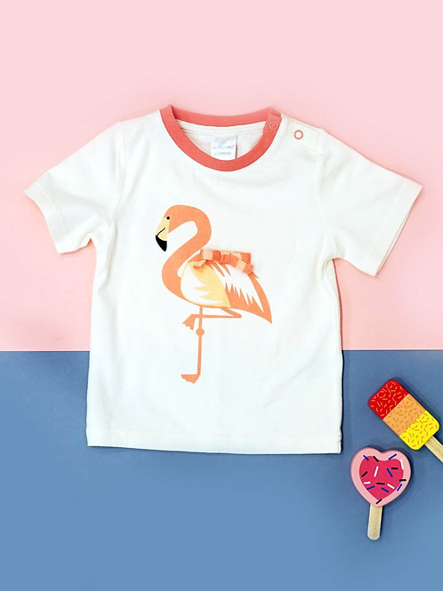 Flamingo Blade and Rose Baby Tee