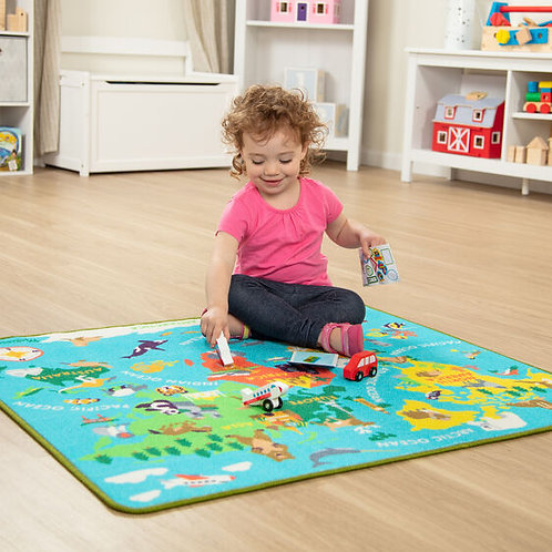 Melissa & Doug Round TheWorld Travel Rug