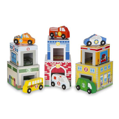 Melissa & Doug Nesting & Sorting Vehicles Set