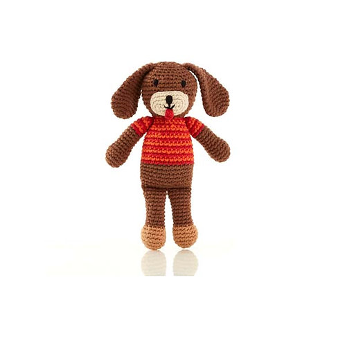 Dog Rattle Toy by Pebble Child