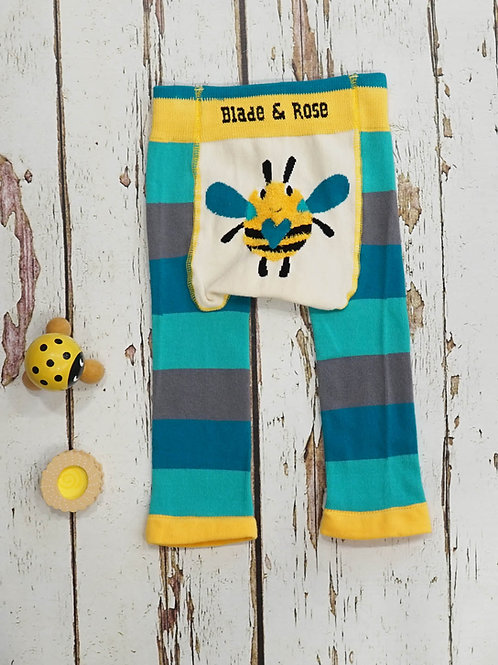 Buzzy Bee Blade and Rose Baby Leggings