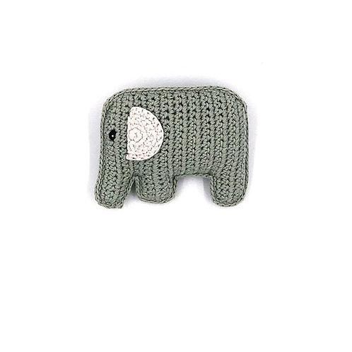 Grey Elephant Toy by Pebble Child