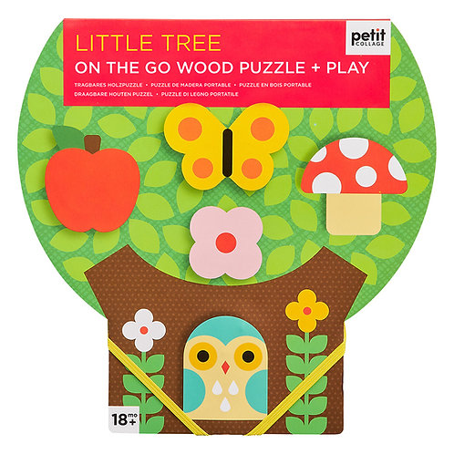 Petit Collage Little Tree Chunky Wood Puzzle