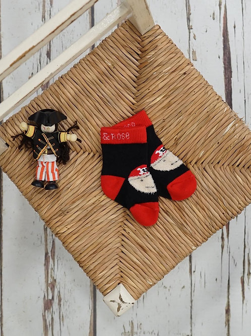Pirate Blade and Rose Baby Socks