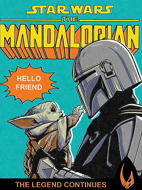 Mandalorian and The Child Canvas Print