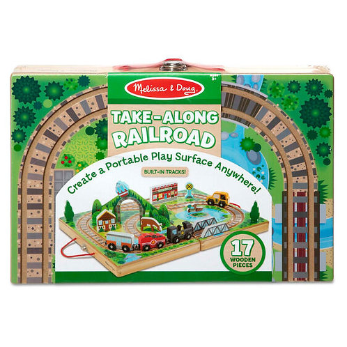 Melissa & Doug Take Along Railroad Playset