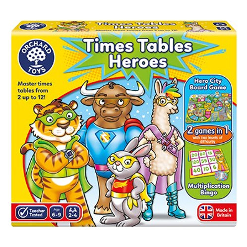Orchard Toys Times Table Heroes Game