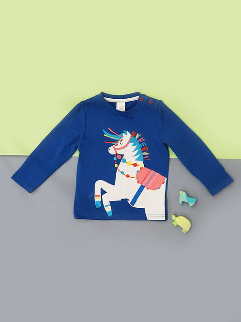 Carnival Horse Blade and Rose Baby Top