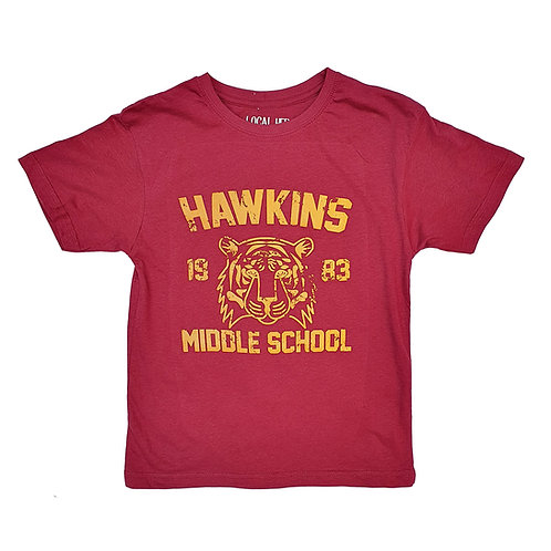 Stranger Things Inspired Hawkins Middle School Maroon Tee