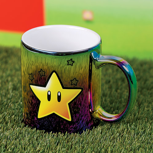 Super Mario Iridescent Star Power Mug