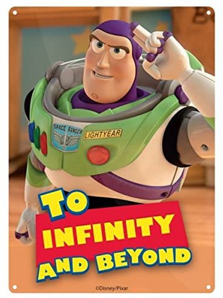 Toy Story Buzz Lightyear Tin Sign