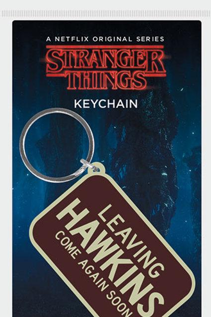 Stranger Things Leaving Hawkins Rubber Keyring