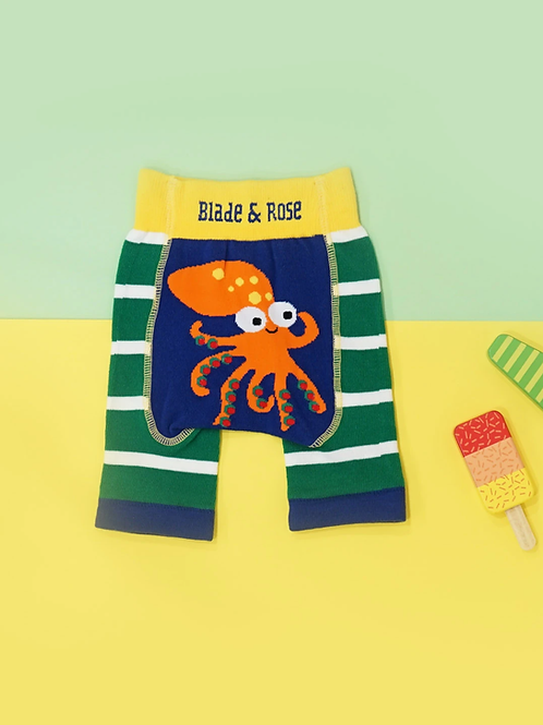 Charlie The Squid Blade and Rose Baby Shorts