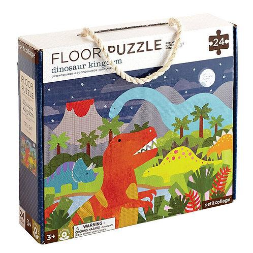 Petit Collage Dinosaur Kingdom 24-Piece Floor Puzzle