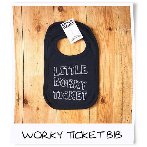 Little Worky Ticket Geordie Baby Bib
