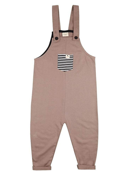 Turtle Dove Organic Stone Easyfit Baby Dungarees