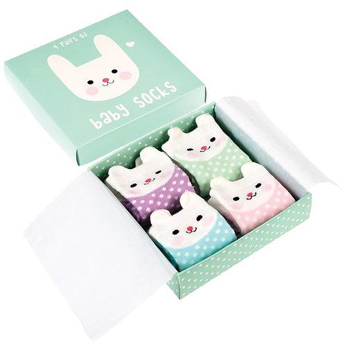 Bunny Baby Sock Set (4 Pairs)