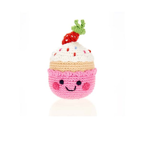 Strawberry Cupcake Toy by Pebble Child