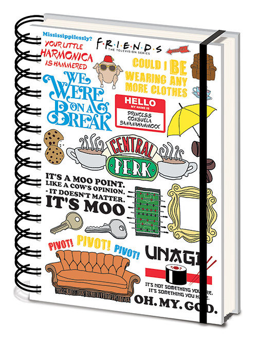 Friends Quote A5 Wiro Notebook