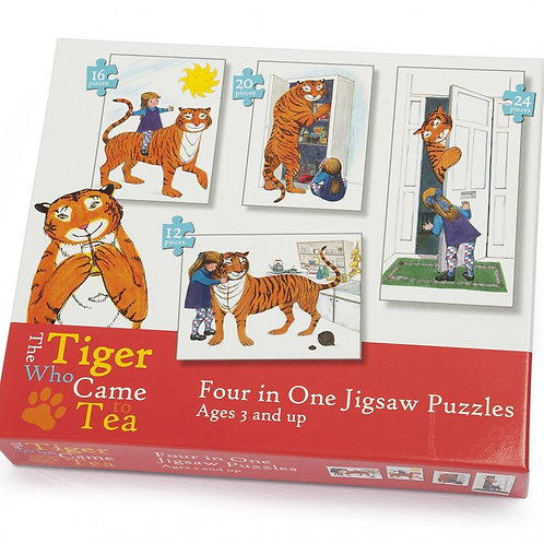 The Tiger Who Came To Tea 4 in 1 Jigsaw