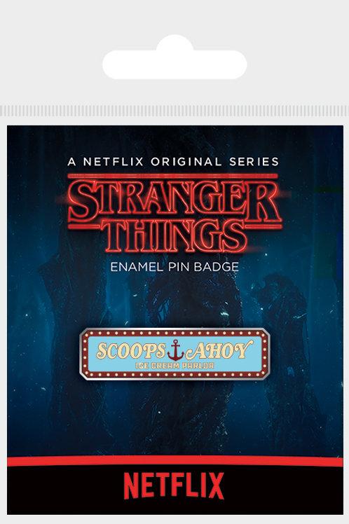 Stranger Things Scoops Ahoy Enamel Pin Badge