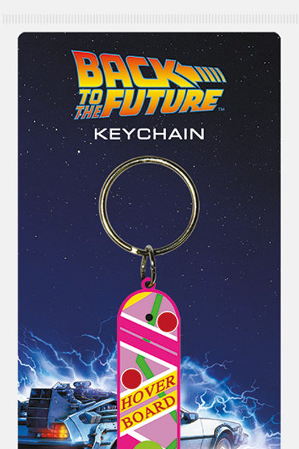 Back To The Future Hoverboard Rubber Keyring