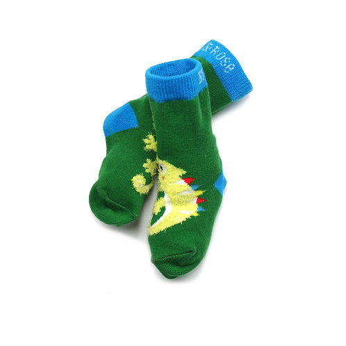 Chameleon Blade and Rose Baby Socks