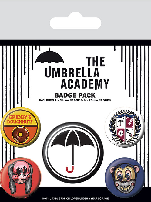 Umbrella Academy Badge Pack