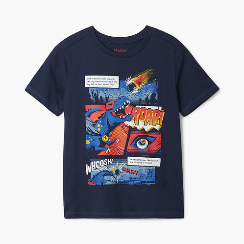 Hatley Superhero Dinos Graphic Tee