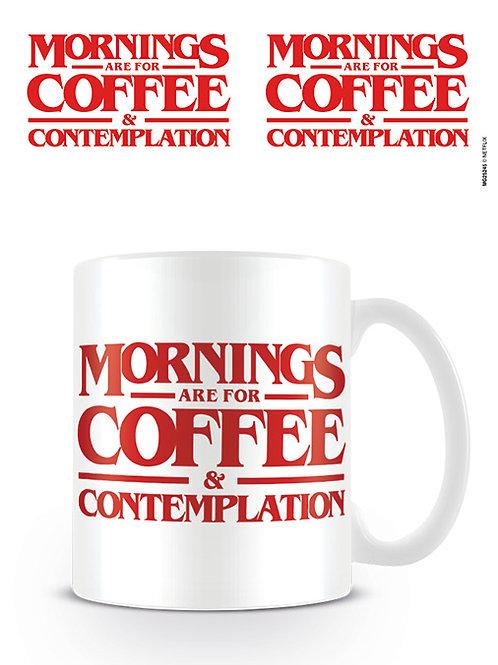 Stranger Things Mornings Are For Coffee Mug