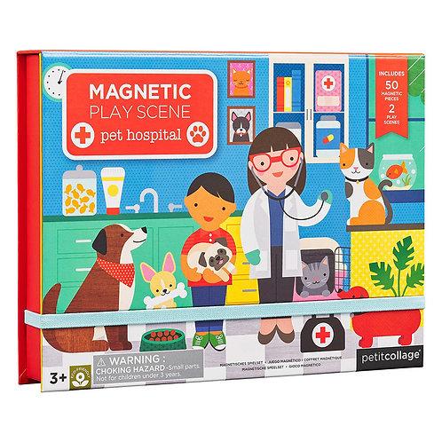 Petit Collage Pet Hospital Magnetic Play Set