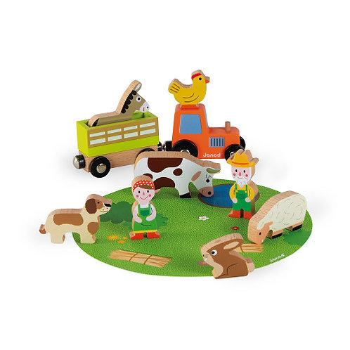 Janod Story Farm Set