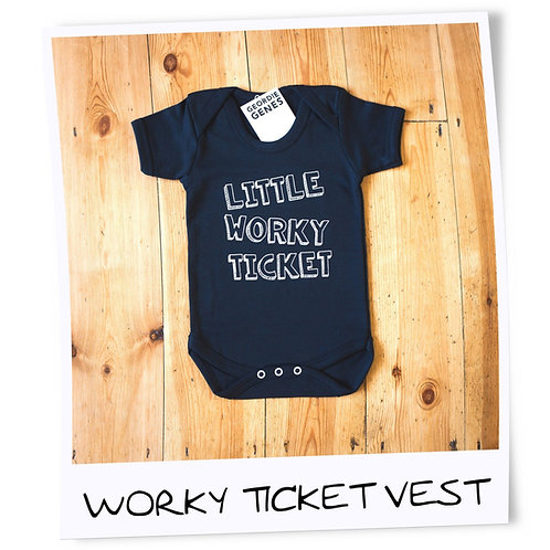 Geordie Genes Little Worky Ticket Vest