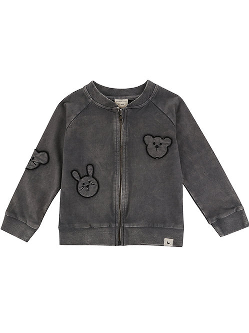 Turtle Dove Embroidered Besties Bomber Jacket