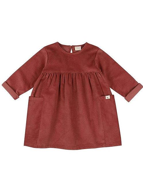 Turtle Dove Organic Pretty Cord Baby Dress