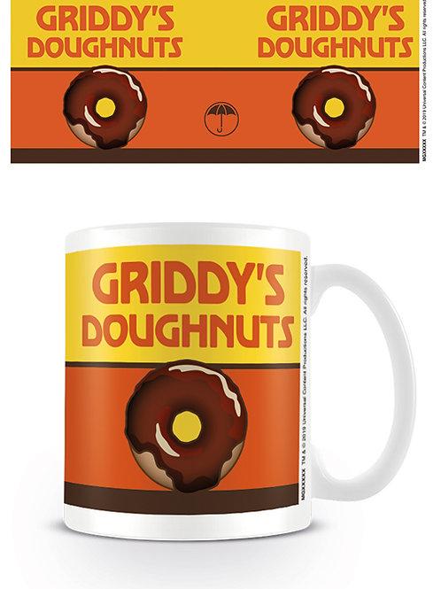 Umbrella Academy Griddy's Doughnuts Mug